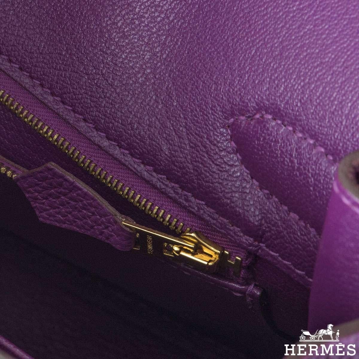 Hermes Birkin 30 cm Fjord leather Anemone Handbag